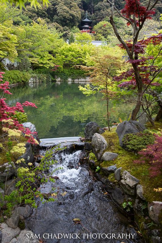 Lake at Eikando Zenrin-ji