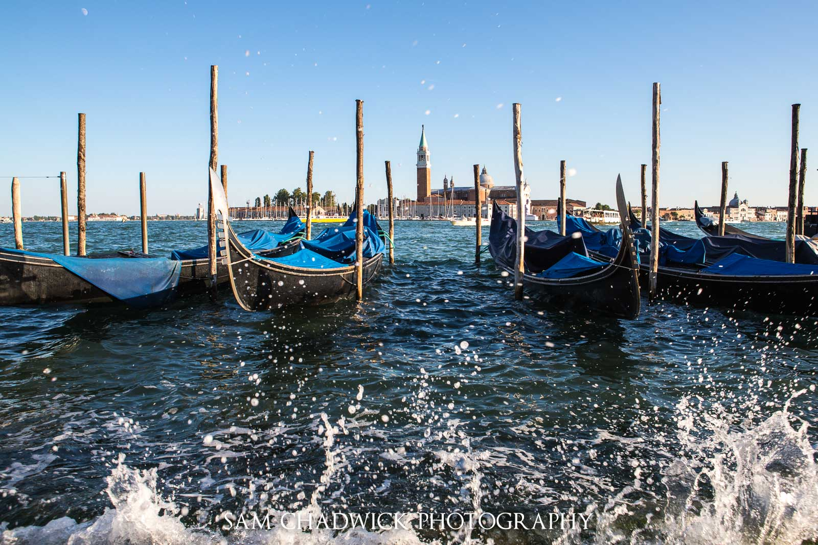 Gondolas in front of the Church of San Giorgio Maggiore