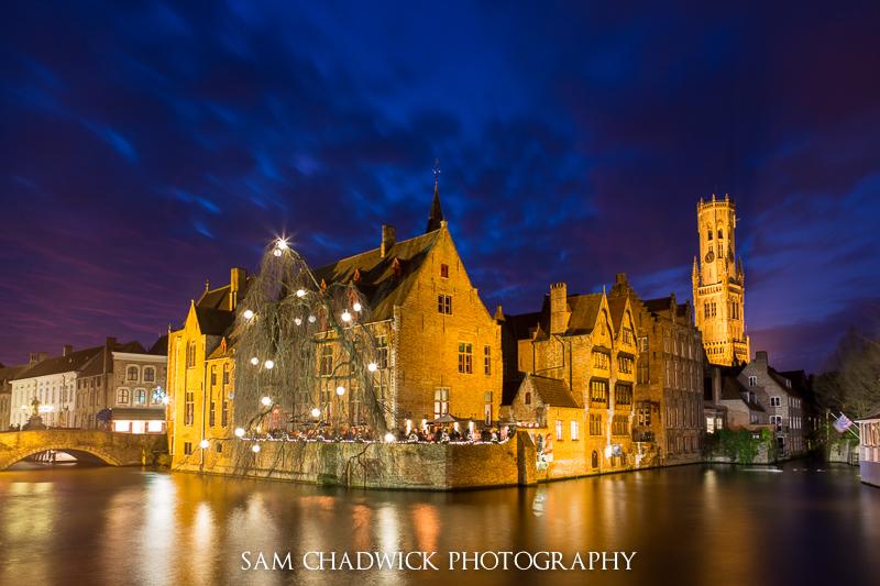 Bruges after dark