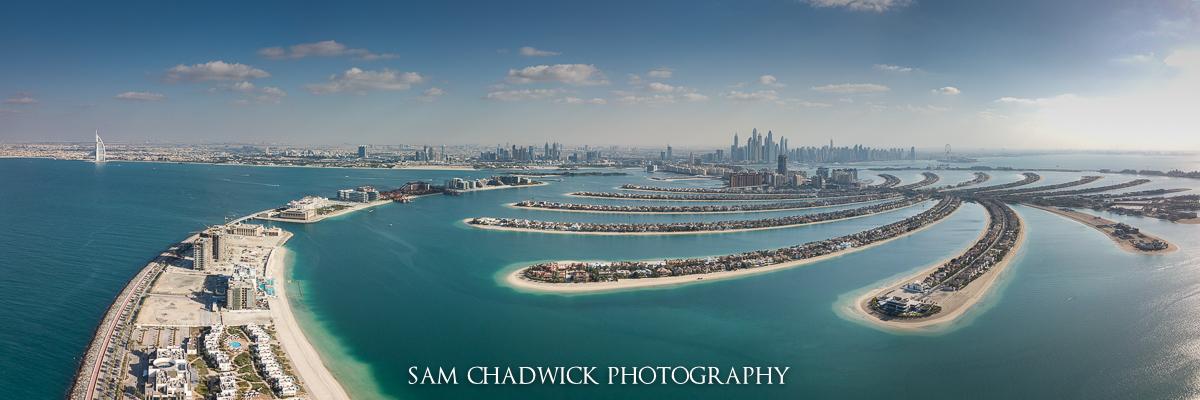 Aerial photograph of Dubai