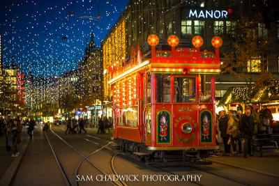 Christmas tram in Zurich