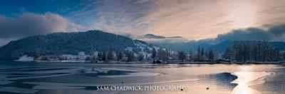 Unteraegeri lake in Winter